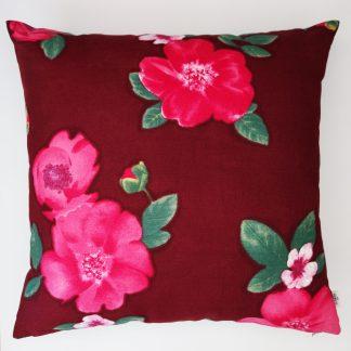 coussin createur Ln Fabrics haut de gamme tissu à fleurs Kenzo