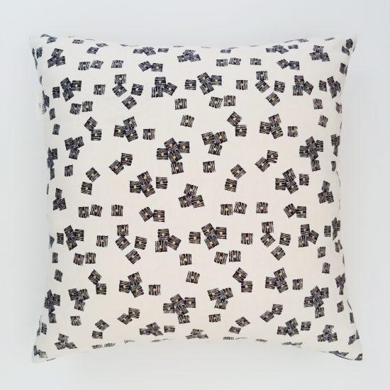 coussin créateur lin coton imprimé Midnight Garden Dashwood studio
