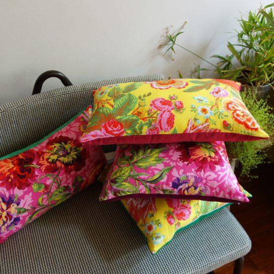 coussin createur Ln Fabrics tissu Free Spirit