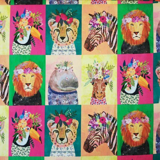 tissu imprimé Junglemania par Mia Charro