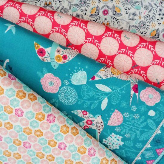 tissu imprimé dashwood studio summer dance loisirs créatifs couture patchwork