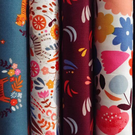 tissu imprimé dashwood studio meadow safari loisirs créatifs couture patchwork