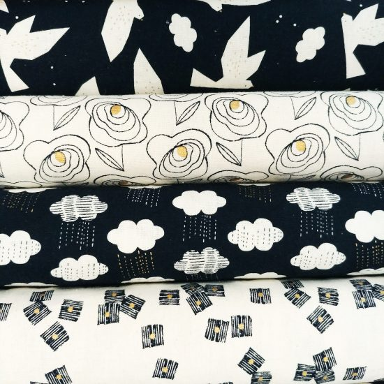 tissu imprimé Midnight Garden Dashwood studio