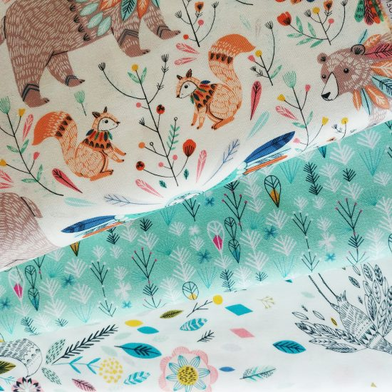 tissu imprimé dashwood studio boho meadow flock loisirs créatifs couture patchwork