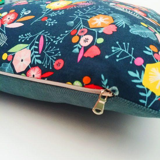 coussin créateur Ln Fabrics tissus imprimés flock Dashwood studio