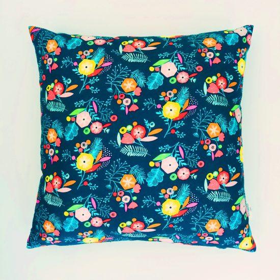 coussin créateur Ln Fabrics tissus cotons imprimés flock Dashwood studio