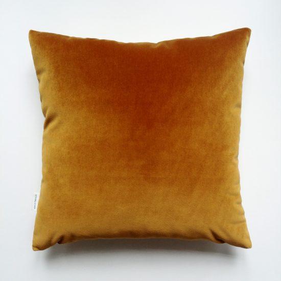 coussin createur Ln Fabrics velours haut de gamme mordoré imprimé rayures or Camelot Fabrics