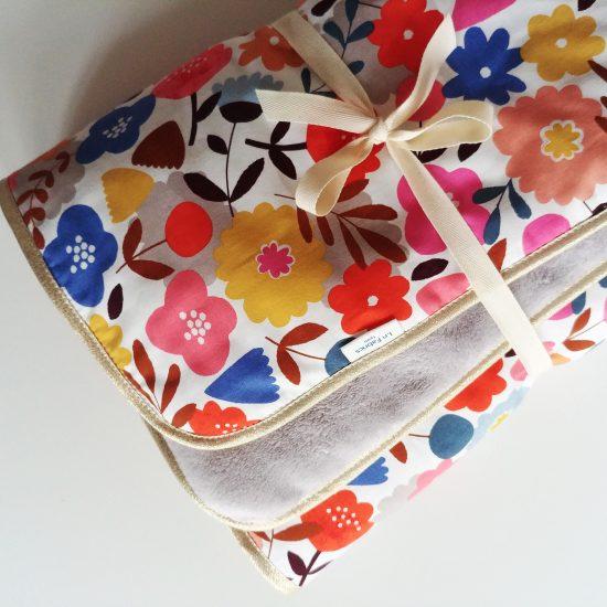 couverture chaude bébé ouatinée coton imprimé Meadow safari Dashwood studio