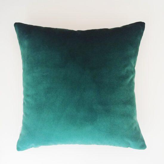 coussin createur Ln Fabrics haut de gamme tissu à fleur Kenzo bleu canard