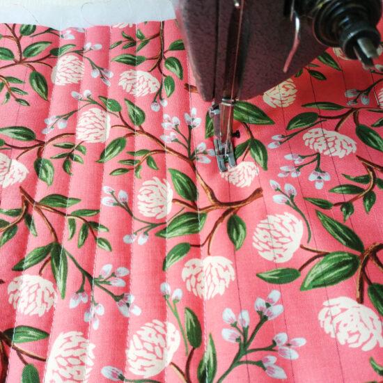 tissu imprimé fleurs rifle Paper Co, coton matelassé
