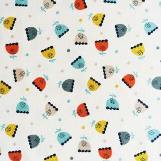 Tissu en coton Dashwood Studio imprimé à fleurs idéal pour la couture enfant et la déco